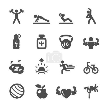 fitness icon set 2, vector eps10