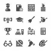 Vzdělání ikony set 2, vector eps10