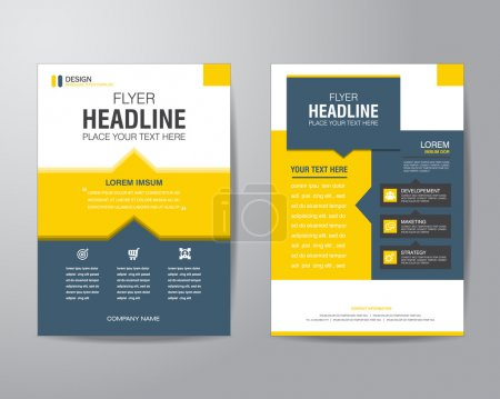 Business brochure flyer design layout template in A4 size, with