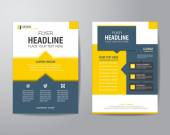 business brochure flyer design layout template in A4 size with