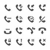 telephone call icon set vector eps10