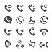 telephone call icon set 2 vector eps10