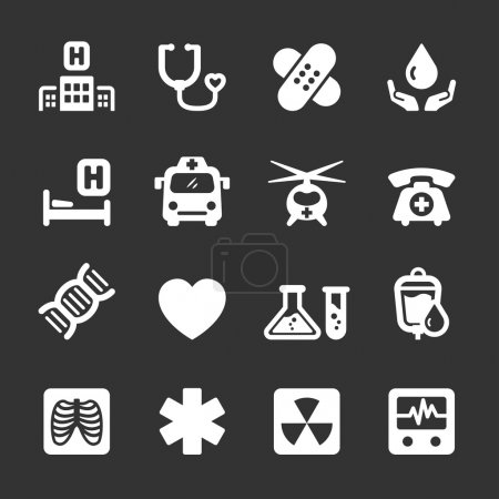 medical and hospital icon set 7, vector eps10