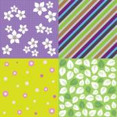 Négy rugó seamless háttér minták