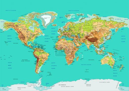 Map of the World. Vector illustration