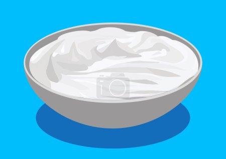 Sour cream, vector