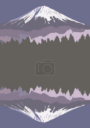Fujiyama, Mount Fuji, vector