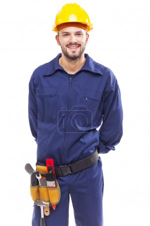 Contractor with arms crossed