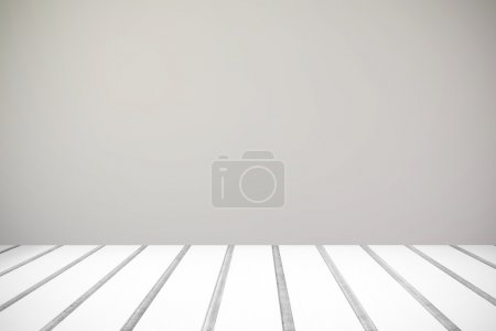 Gray wall and wooden floor