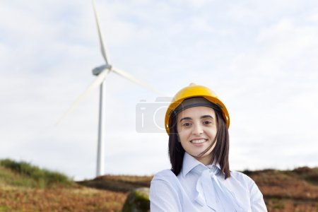 Smiling female engineer