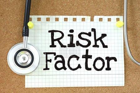 Risk Factor handwritten on paper note