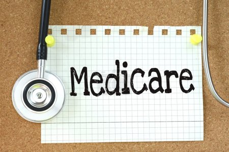 Medicare handwritten on paper note
