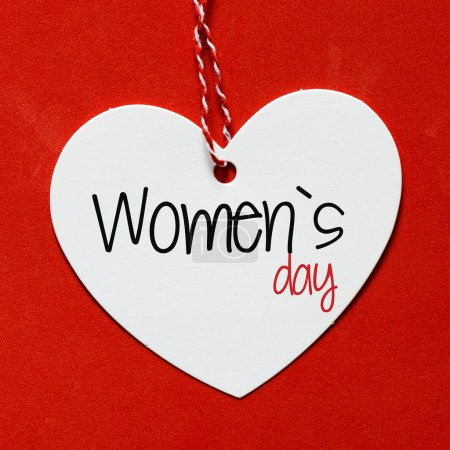 Photo for Women's day heart shape card - Royalty Free Image