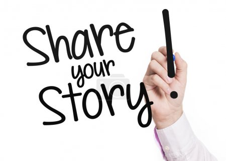 Hand writing share your story