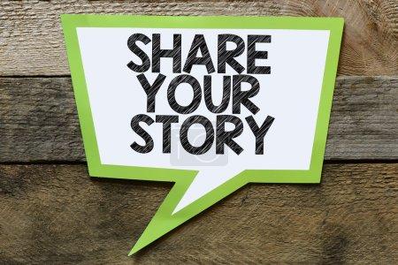 Photo pour Partagez votre histoire Speach bulle avec - image libre de droit