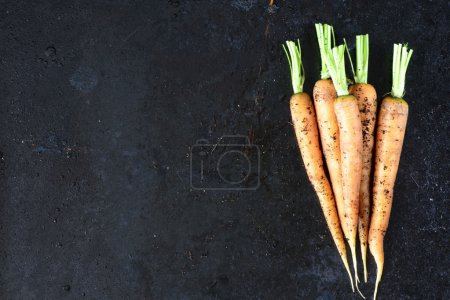 Some dirty carrots food