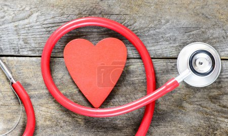 stethoscope with heart symbol