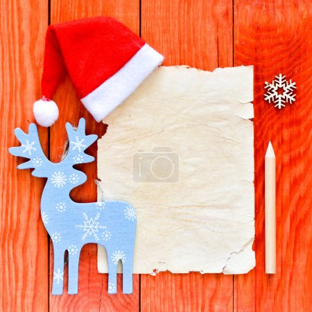 merry christmas letter with santa hat
