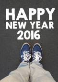 Male sneakers and happy new year  2016