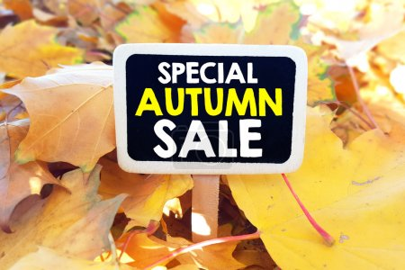 lackboard with special autumn sale