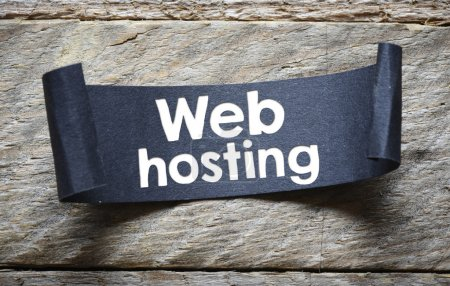 paper sheet with web hosting text