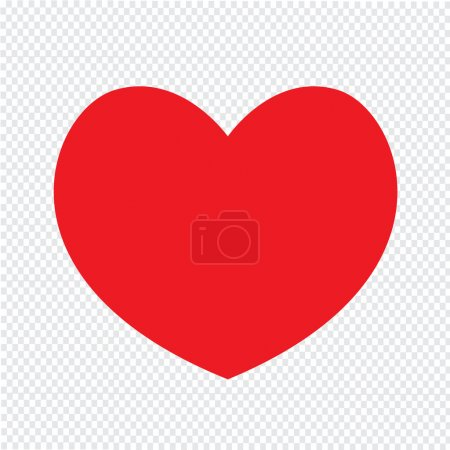 heart icon Illustration design