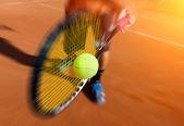 Tenista v akci
