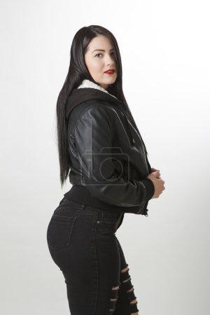 Sexy rocker woman