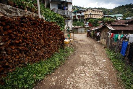 Falam town in Myanmar