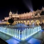 Fountain and Cloth hall (Polish: Sukiennice) durin...