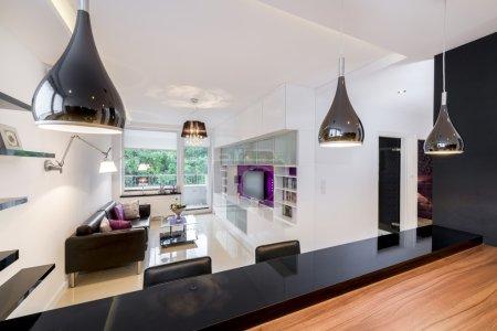 Modern living room with vintage elements