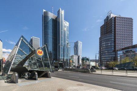 WARSAW, POLAND - APRIL 24, 2015: Entrance to the n...