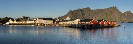 Panorama of Hamnoy town on Lofoten Islands