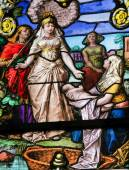 Moses found in the Nile - Stained Glass