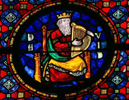 King David - stained glass