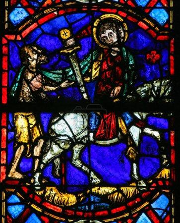 Saint Martin cuts a piece
