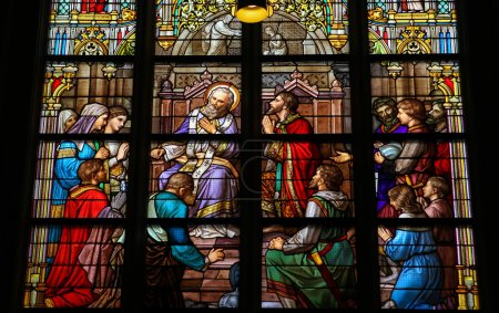 Stained Glass of The Sacrament of Confession in Den Bosch Cathed