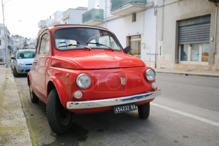 Iconic Fiat 500 in Alberobello