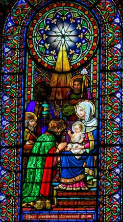 Stained Glass of the Magi or Three Wise Men