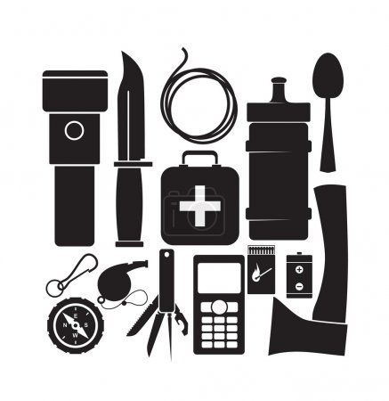 Illustration for Survival kit - Royalty Free Image