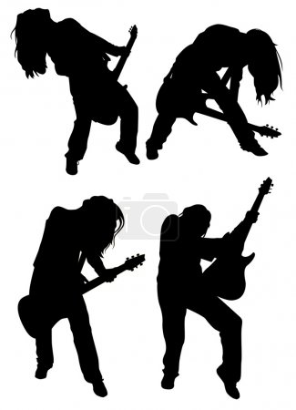 Photo for Rock girl with guitar - Royalty Free Image