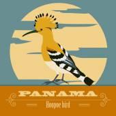 Panama landmarks Retro styled image Vector illustration