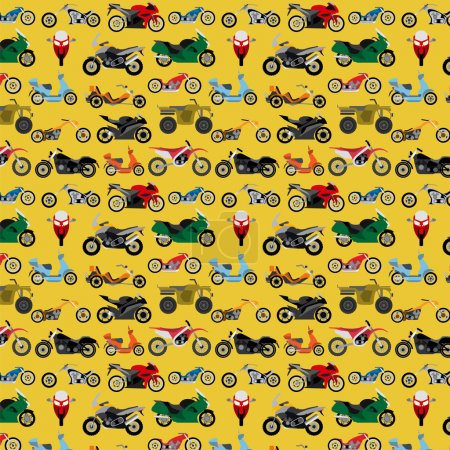 Photo pour Fond de moto, sans couture. Illustration vectorielle - image libre de droit