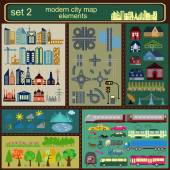Modern city map elements for generating your own infographics m