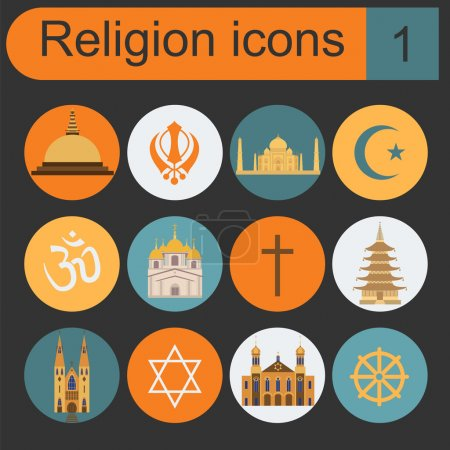 Photo for Religion icon set. Vector illustration - Royalty Free Image