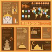 Religion infographics Vector illustration