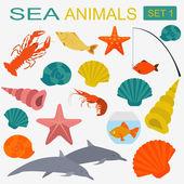 Sea animals icon