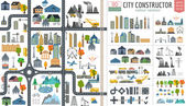 City map generator. City map example. Elements for creating your