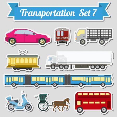 Set of all types of transport icon  for creating your own infogr