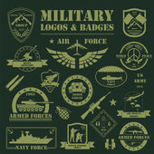 Military and armored vehicles logos and badges Graphic template